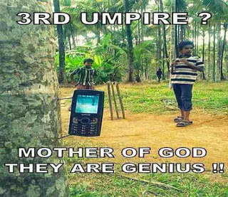 funny cricket match third umpire