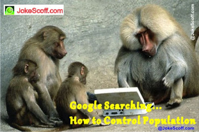 Monkey searching on google how to control population on population day